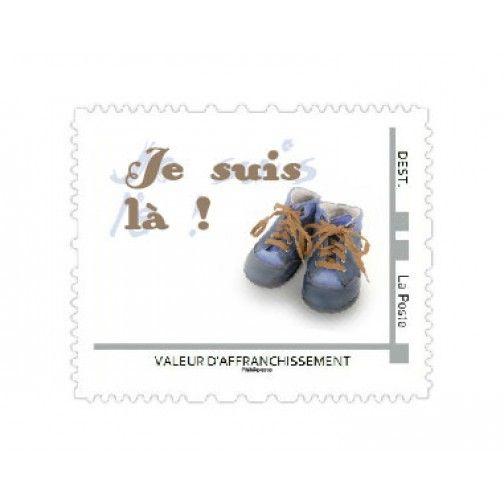 Visuel de timbre Globe Trotter - Timbre naissance avec des chaussures d'aventurier