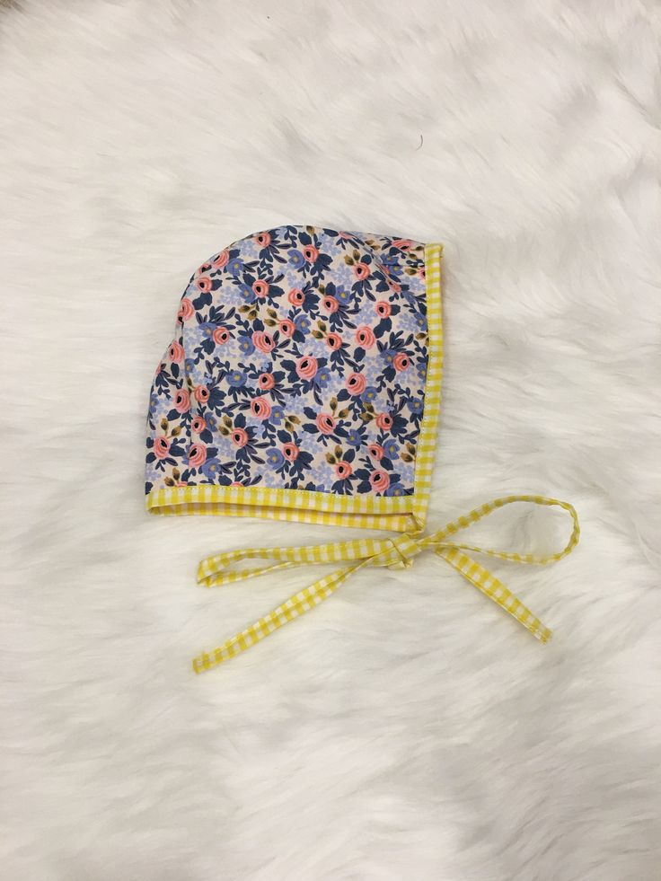 A personal favorite from my Etsy shop https://www.etsy.com/ca/listing/549181854/yellow-gingham-baby-bonnet-reversable
