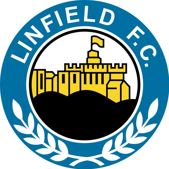 Linfield F.C. (from the city/agglomeration of Belfast) - logo without year of founding