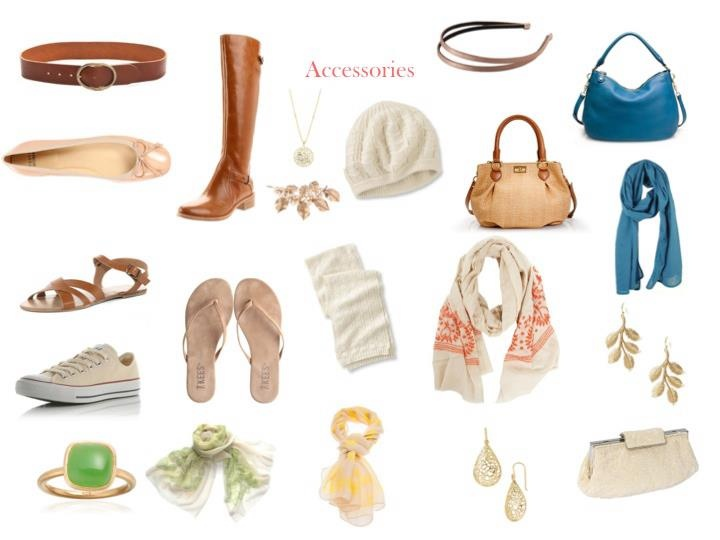 soft classic accessories (Dramatic classic could wear most of these, for casual.)