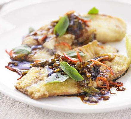Tilapia in soy-garlic-ginger sauce. Fast and super easy recipe to make ...