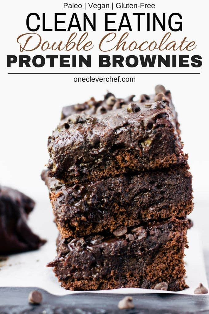 These rich and fudgy black bean protein brownies are the perfect post-workout treat! This super healthy snack is entirely flourless, gluten-free, vegan, dairy-free, egg-free, refined sugar-free and nut-free. Naturally sweetened with maple syrup and filled with antioxidants, these delicious brownie protein bars only require a few minutes of your time and a good food processor. | www.onecleverchef.com