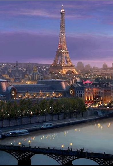 Paris at dusk - Explore the World with Travel Nerd Nici, one Country at a Time. http://TravelNerdNici.com