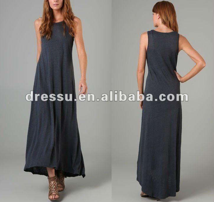 Senhoras roupas de linho/moda casual vestido longo-Vestidos  saias XL-ID do produto:526184817-portuguese.alibaba.com