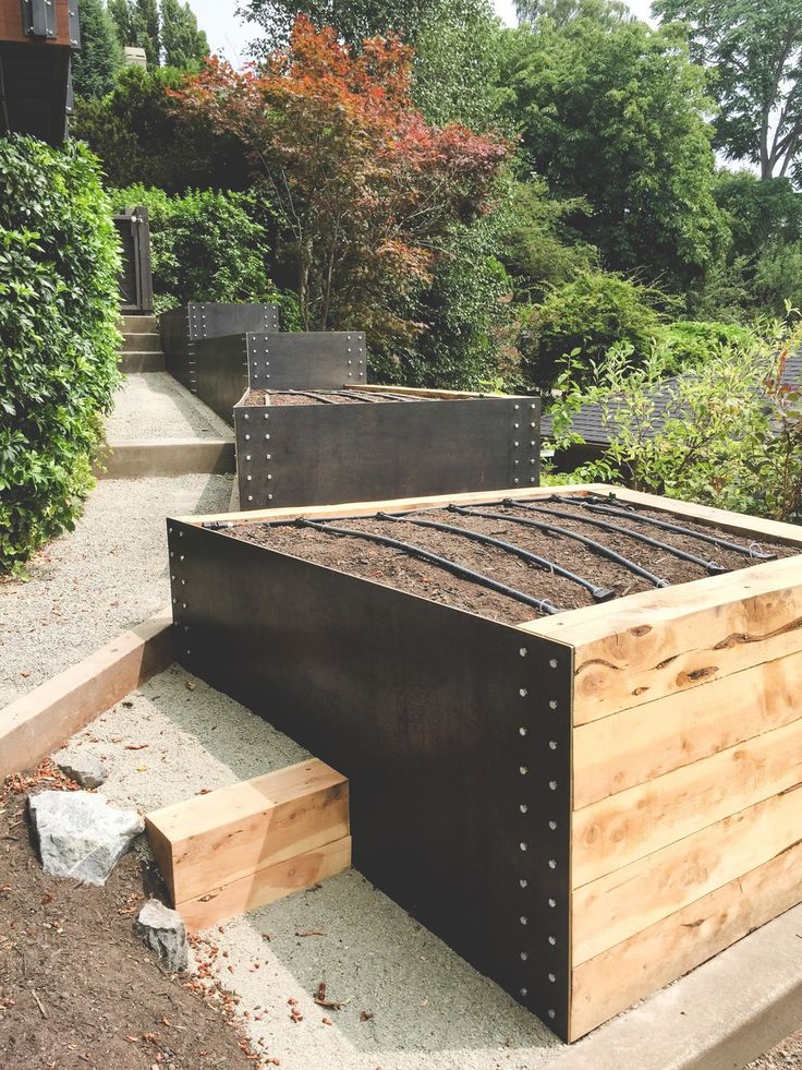 56 best images about cor ten and other materials raised beds on pinterest gardens raised beds for Best material for raised garden beds