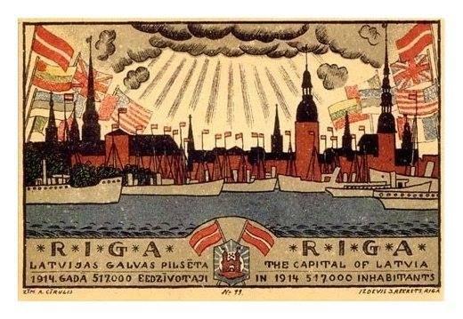 Riga, Latvia, 1914.