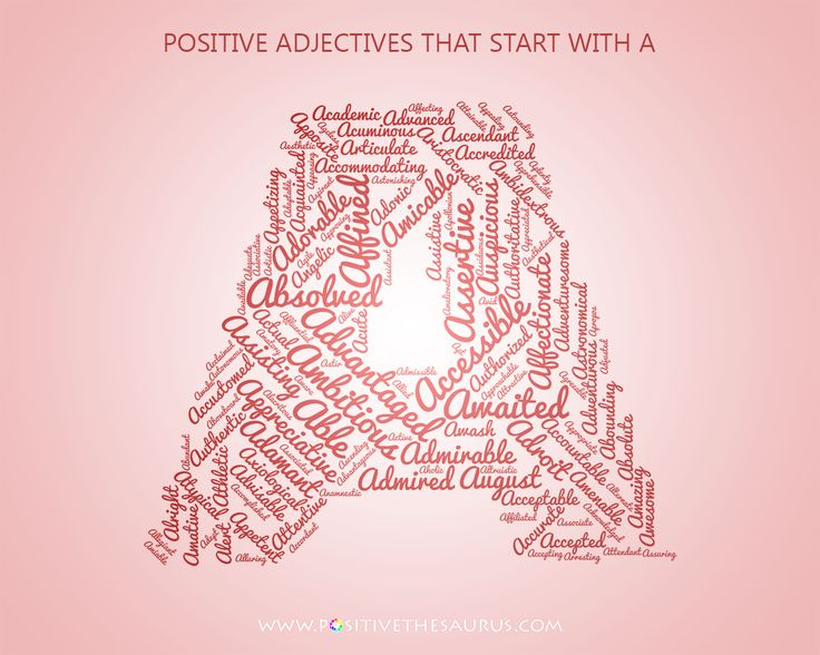"Astounding list of positive adjectives starting with a word cloud ""words of encouragement"" #PositiveWords #PositiveAdjectives #PositiveSaurus"