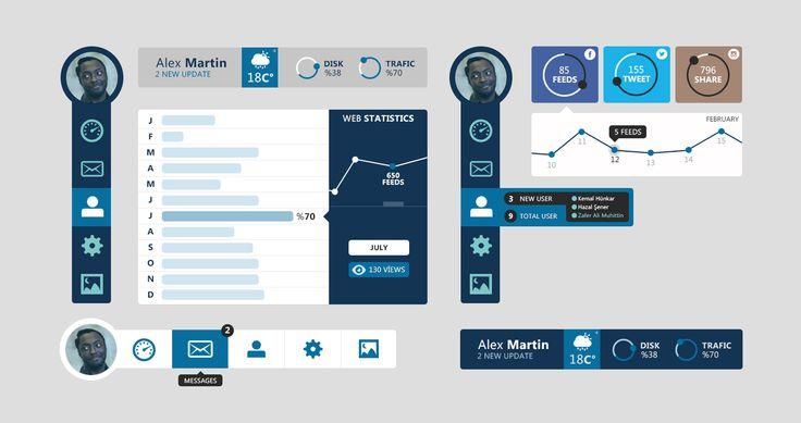 Blue-dashboard-ui-kit