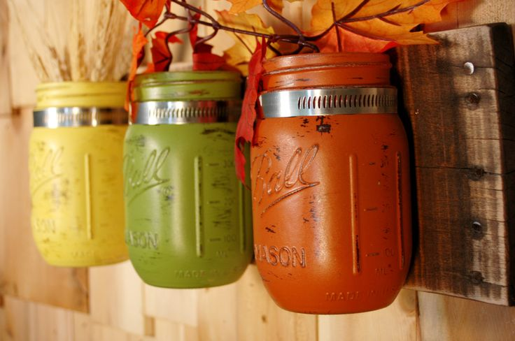 kitchens decorated with fiestaware | ... Decor on dark stained recycled board Fall and Summer Kitchen decor