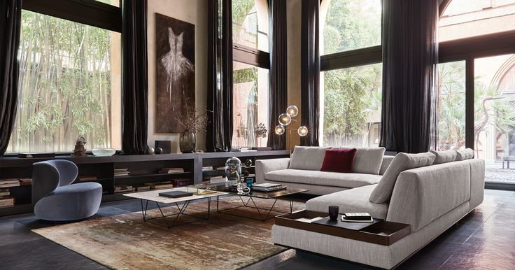 Oki coffee tables with marble top by Walter Knoll. Designed by EOOS.