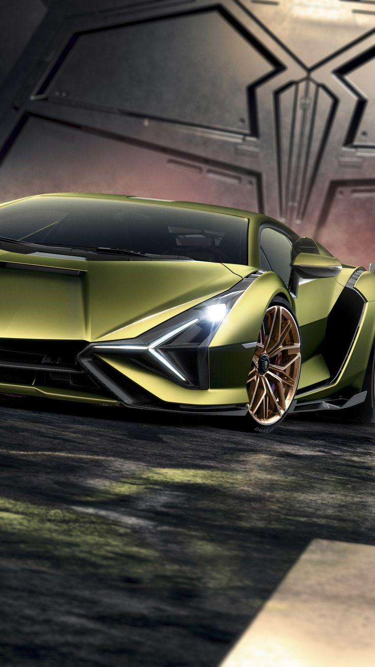 1440x2560 Greenish Lamborghini Sian Sportcar 2019 Wallpaper Luxury Car Photos Expensive Sports Cars Sports Cars Luxury
