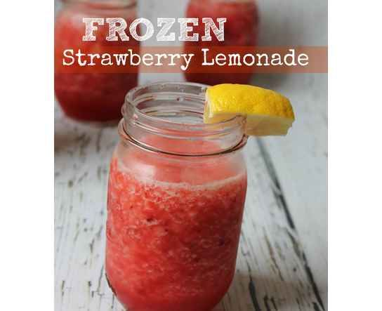 Frozen Strawberry Lemonade Recipe via @Passion4Savings