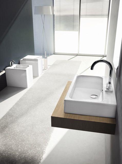 Block, design Meneghello Paolelli Associati. #lavabo #washbasin #sanitaries #sanitari #design #bathroom #ArtCeram