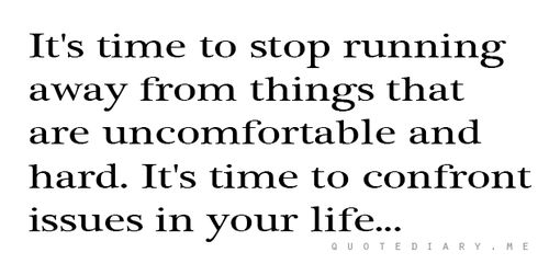 Feel the pain of the uncomfortable and do it anyways, that's where growth takes place