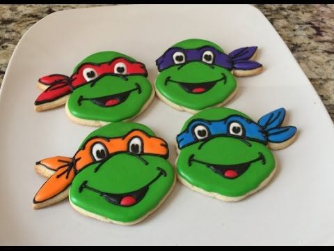 Teenage Mutant Ninja Turtle Cookies (How To)