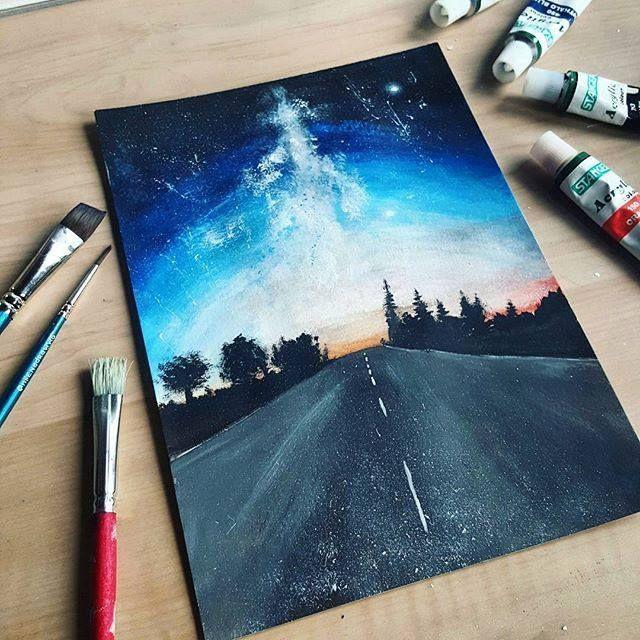 Pin Von Breanna Auf Ideas To Paint On Canvas In 2020 Galaxie