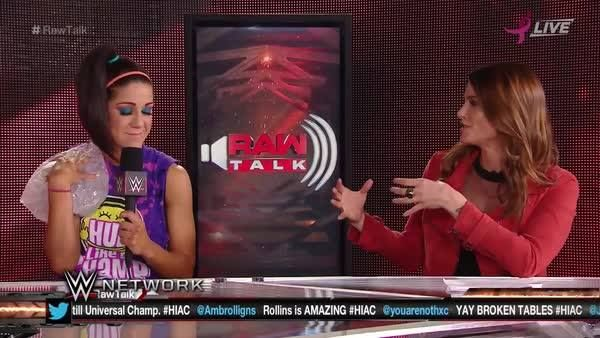 What differentiates Bayley from the rest of the WWE Raw Women's Division? The Hugger explains on WWE Raw Talk on WWE Network!