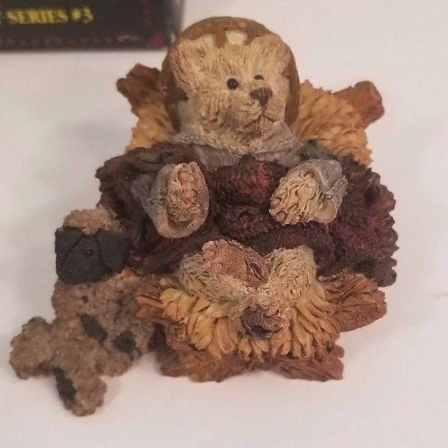Boyds Bears Nativity Baldwin as Baby Jesus Series 3 WITH BOX Christmas Figurine #Boyds