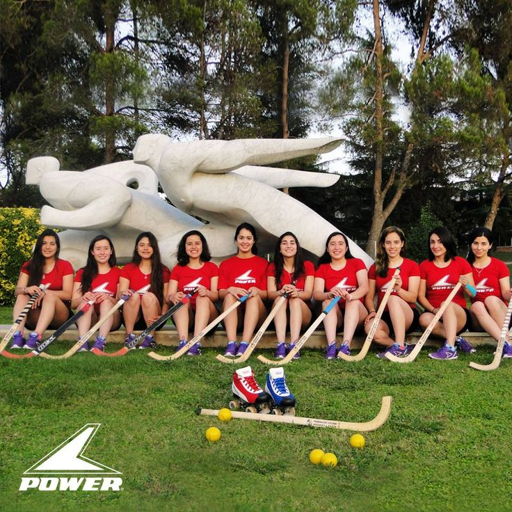 Chilean team participating in the Paris, France, 2104 Women's Roller Hockey World Championship. Power continues to support sports! #PlayOn