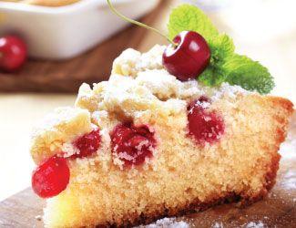 Easy Cherry Sponge Cake