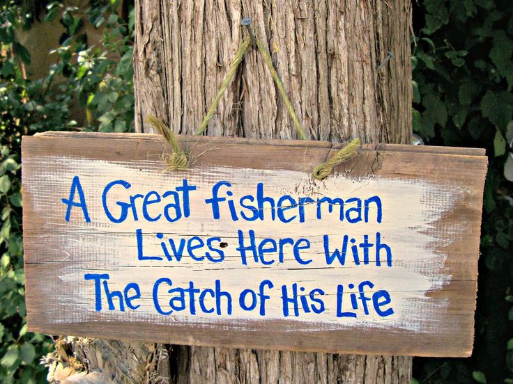 Love it.  Barn Wood Sign Plaque Hand Painted Wall hanging Decor Nautical Fishing Primitive Reclaimed Handpainted Love Funny. $2.00, via Etsy.