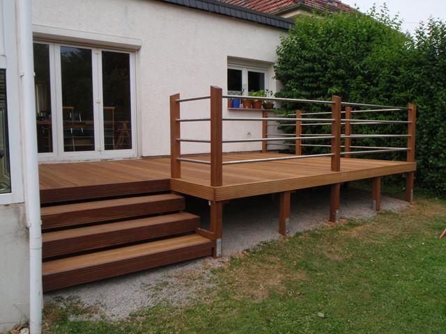15 best balkon images on Pinterest Decks, Stairs and Arquitetura - terrasse sur pilotis metal