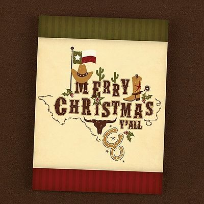 Holiday Cards - Texas Pride Southwestern Holiday Card (Card Link - http://occasionsinprint.carlsoncraft.com/Holiday/Holiday-Cards/YM-YM17797FC-Texas-Pride-Southwestern-Holiday-Card.pro#imageSelect=123708)