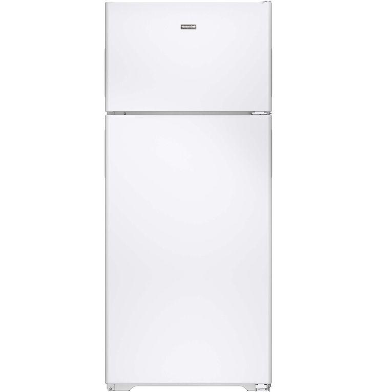 Hotpoint 176 cuft top freezer refrigerator white top