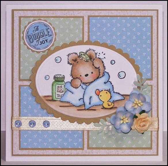 A bundle of joy from Lili of the Valley Stamps, perfect for that baby card.
