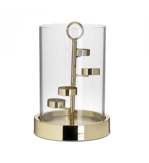 METAL_GLASS VOTIVE HOLDER IN GOLDEN COLOR D17_5X25