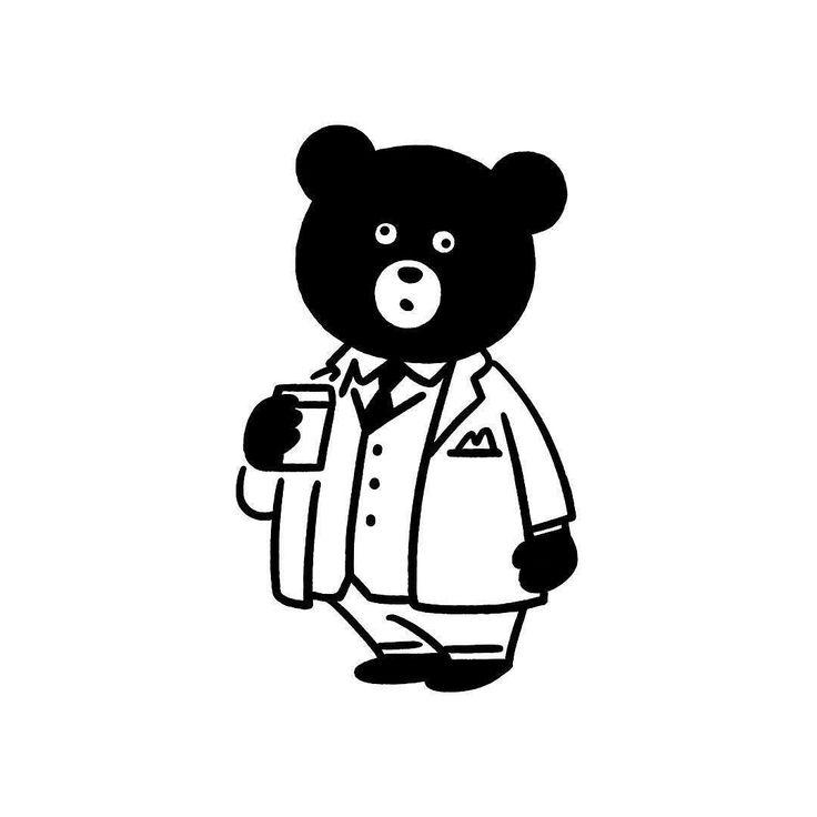 Coffee time #bear #animal #suit #coffee #character #fashion #seijimatsumoto #松本セイジ #art #artwork #draw #graphic #illustration #イラスト #クマ #スーツ #ファッション #デザイン #アート #コーヒー