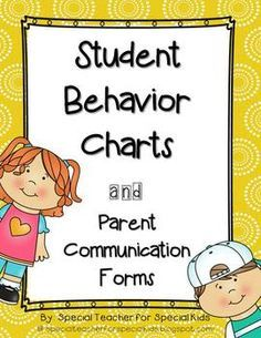 These charts are a tool for communication with parents. A variety of charts are available. Included is a simple happy face or sad face chart that tells it all. Also available are more detailed parent communication forms.