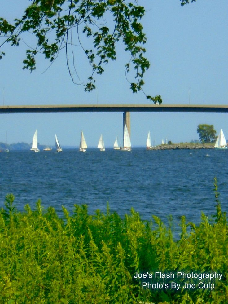 Sailboat races on the Bay of Quinte Belleville Ontario July 11, 2015