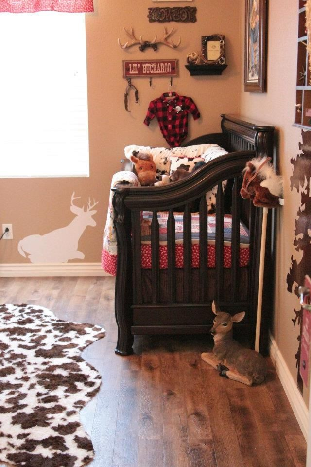 Cowboy Country Nursery-I'm gonna need a cowhide rug in our nursery