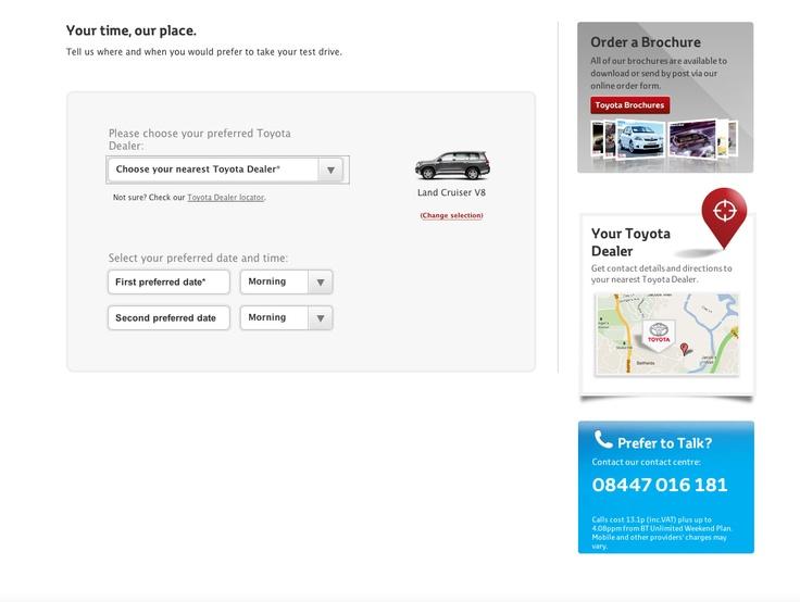 Toyota Test Drive, Step 2