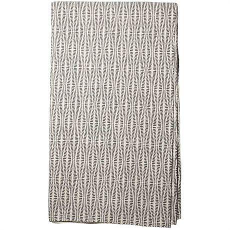 ORMBUNKE Överkast 250x270, grå/vit