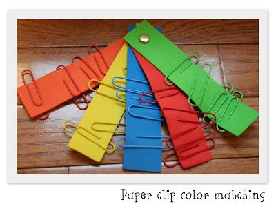 Paper Clip Color Matching Game