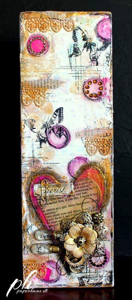 Anita shares how she made a beautiful canvas