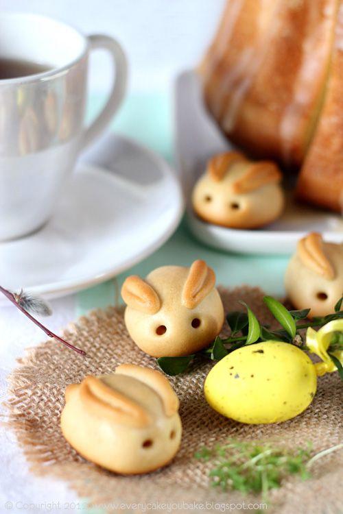 Wielkanocne zajączki z marcepanem  | Every Cake You Bake