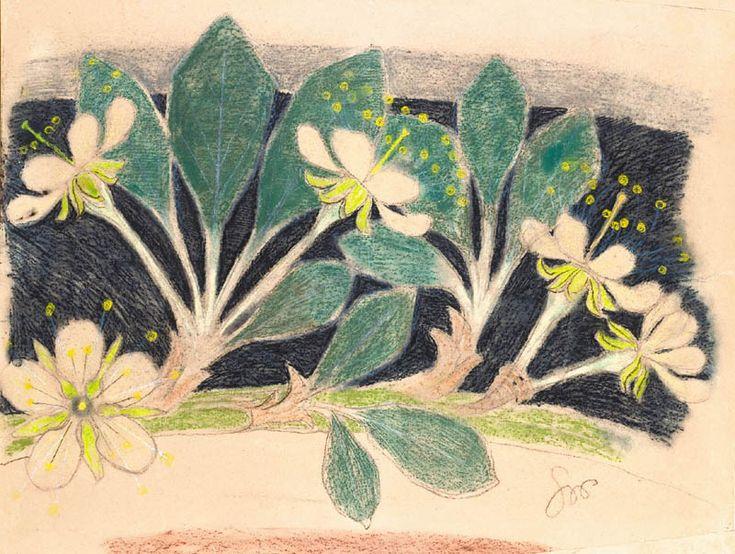 Chestnut leaves by Stanislaw Wyspianski.