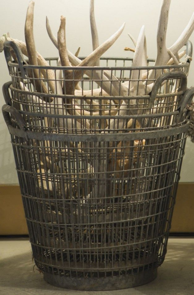 french vintage mussel baskets