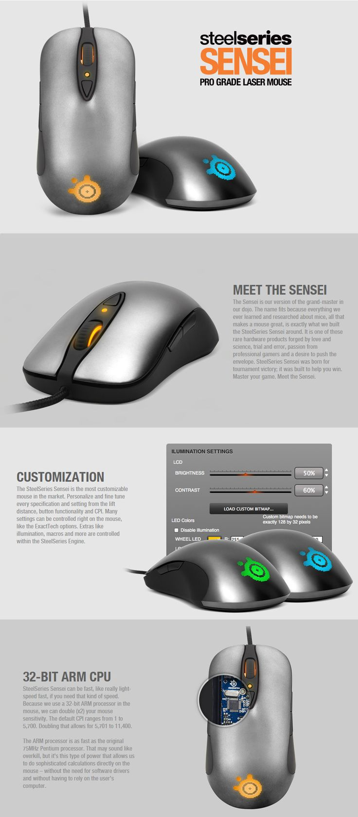 SteelSeries Sensei Professional Laser Gaming Mouse [SS-62150] : PC Case Gear