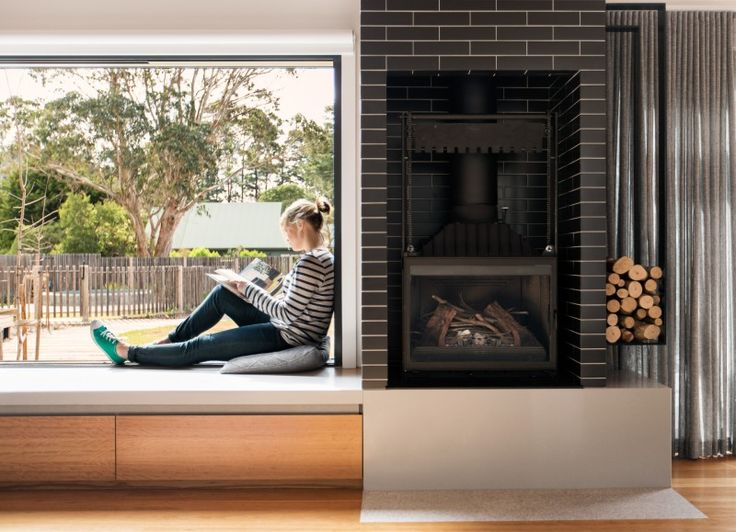 window seat / storage under & inbuilt gas fireplace yes please!