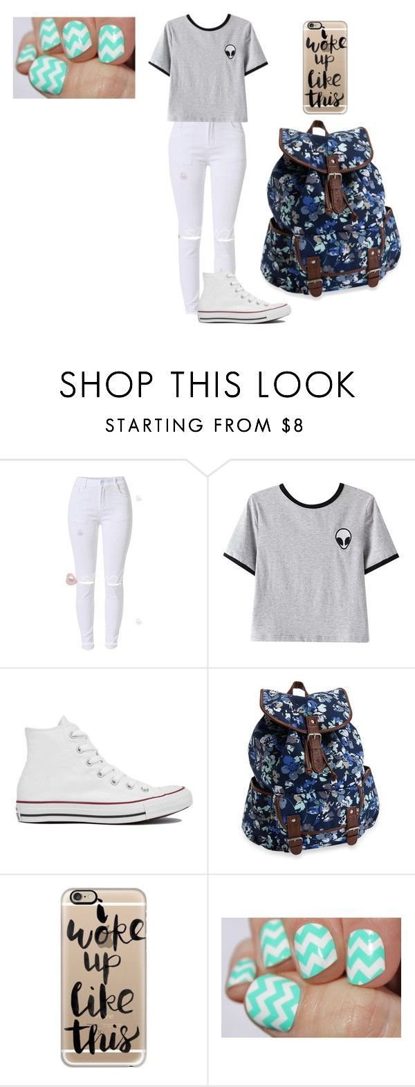 """seventh grade basic."" by phoenixlperkins ❤ liked on Polyvore featuring Chicnova Fashion, Converse, Aéropostale and Casetify"