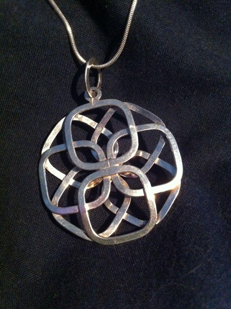 Ola Dahlsveen, Norway, modernist silver pendant.