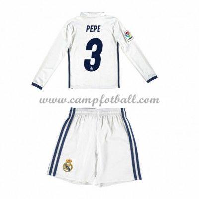 Fotballdrakter Barn Real Madrid 2016-17 Pepe 3 Hjemme Draktsett Langermet