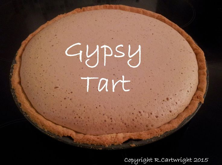 Craft with Ruth Cartwright: Gypsy tart recipe #pastry #pudding #evaporated milk #retro