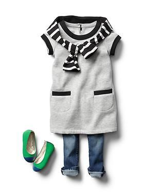 Baby Clothing: Toddler Girl Clothing: Now & Later Looks Dresses | Gap. I love the little shoes!!