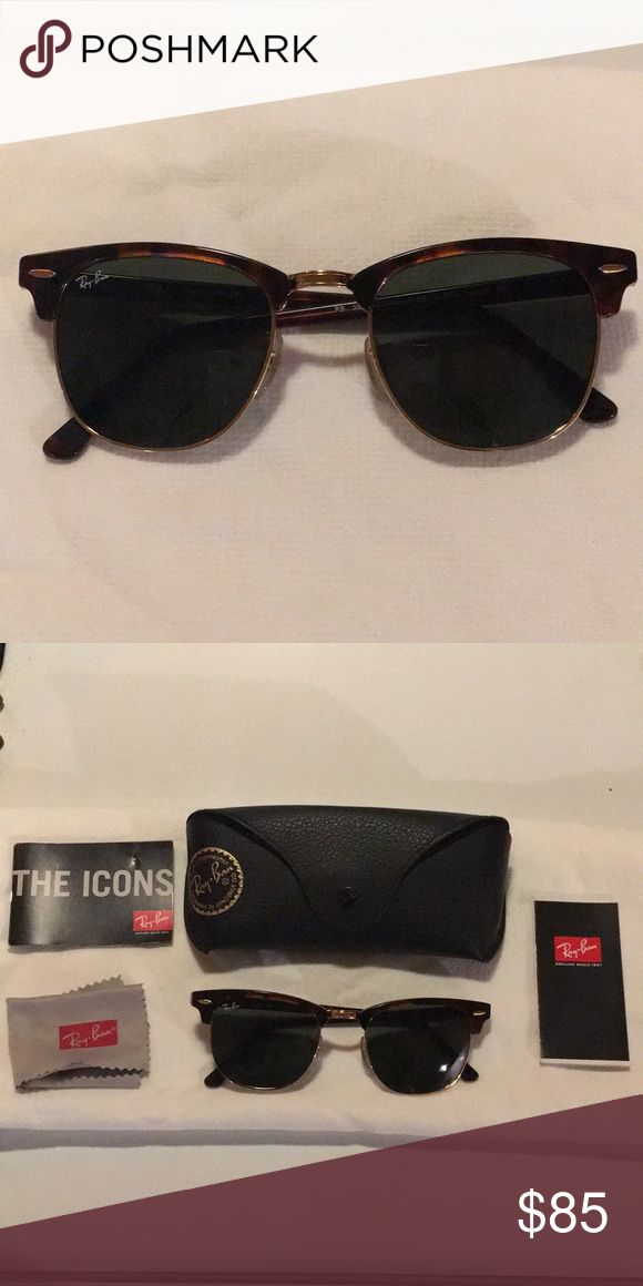 Club master ray ban sunglasses Only worn once then realized they don't look good on my face shape  Ray-Ban Accessories Sunglasses