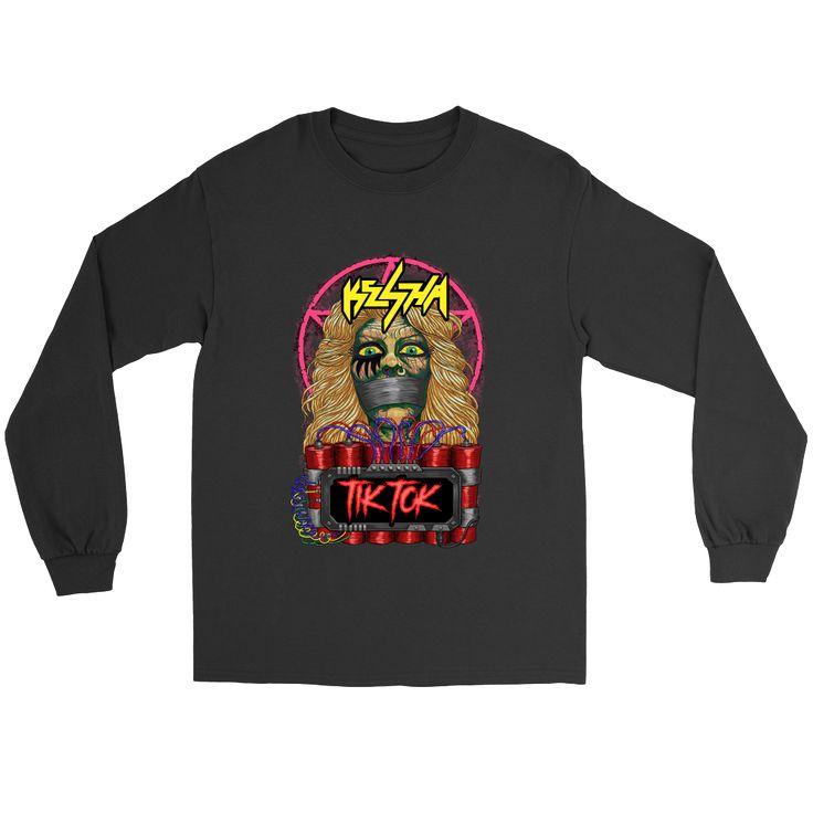 Kesha - Tik Tok metal tee. USD 16.99 We ship worldwide! ---------------- metal head, black metal, pop music, clothing